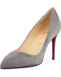e69841be1f85e Christian Louboutin Corneille 100 Cracked-leather Pumps in Metallic ...