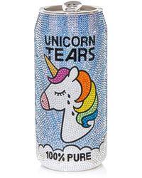 Judith Leiber Unicorn Tears Beverage Can Pill Box - Blue