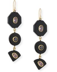 Ashley Pittman - Zambarau Dark Horn Three-drop Earrings - Lyst