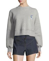 Cinq À Sept - Tous Les Jours Julien Cropped Pullover Sweatshirt - Lyst