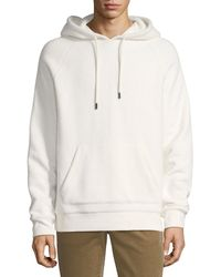 Vince Men's Hooded Terry Sweatshirt - White