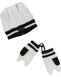 Karl Lagerfeld Cat Baby Hat & Mitten Set - Black