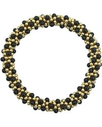 Meredith Frederick - 14k Gold And Black Onyx Bead Bracelet - Lyst