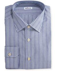 Kiton   Alternating-stripe Dress Shirt   Lyst