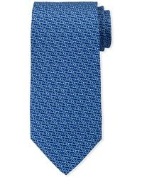 Ferragamo - Interlocking Gancini Silk Tie - Lyst