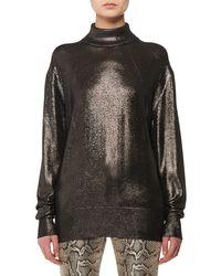 Tom Ford - Long-sleeve Metallic-knit Silk Turtleneck Sweater - Lyst
