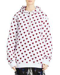 Burberry - Heart-print Hoodie - Lyst