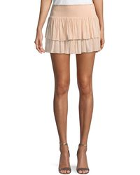 Ramy Brook - Sibyl Smocked Two-tier Mini Skirt - Lyst