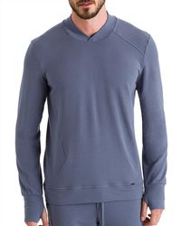 Hanro Living Relax Pullover - Gray