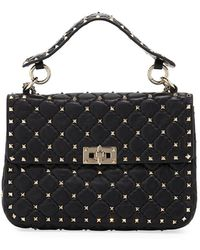 Valentino   Rockstud Quilted Small Shoulder Bag   Lyst