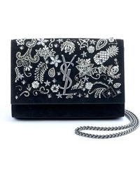 Saint Laurent - Kate Small Monogram Ysl Chain Crossbody Bag With Skeleton  Charms - Lyst 0102e3ced939b