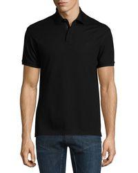 Ralph Lauren - Snap/zip Pique Polo Shirt - Lyst