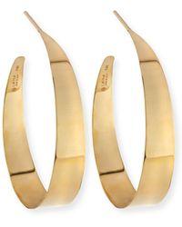 Lana Jewelry - Small Flat Gloss Hoop Earrings - Lyst