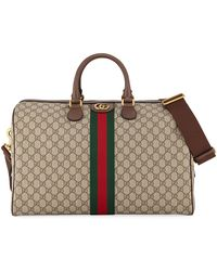 cb5a6ee76d5d Lyst - Gucci Bengal Gg Supreme Duffle Bag in Natural for Men