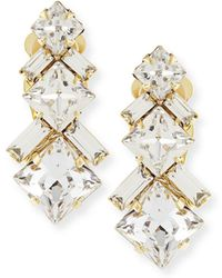 Auden - Ryder Crystal Clip-on Earrings - Lyst