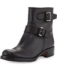 Gravati - Two-Strap Leather Moto Boots - Lyst