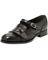 Gucci - Queercore Brogue Leather Monk Shoe - Lyst