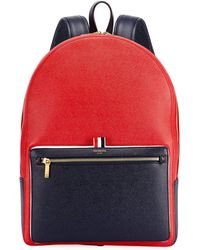 Thom Browne Men's Suberou Colorblock Leather Backpack - Blue