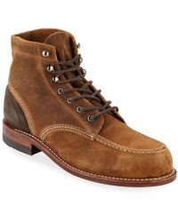Wolverine Men's 1000 Mile Rugged Waxy Suede Boots - Natural