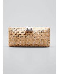 Rodo - Woven Wicker Clutch Bag - Lyst