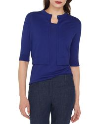 Akris - Half-sleeve Sea Island Cotton Cardigan - Lyst