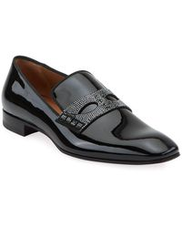 7be8f0fa99a Christian Louboutin Roller Boat Pik Pik Patent in Black for Men - Lyst