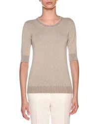 Agnona - Knitwear Summer Cashmere Vanise T-shirt - Lyst