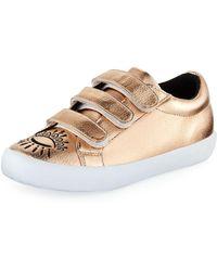 KENZO - Winking Eye Metallic Sneakers - Lyst