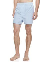 Derek Rose - James Fine-stripe Boxer Shorts - Lyst