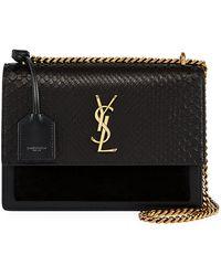 20392fac40c Saint Laurent Monogram Ysl Niki Medium Shoulder Bag in Brown - Lyst