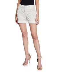 Alice + Olivia - Cady Embroidered Cuffed Cargo Shorts - Lyst