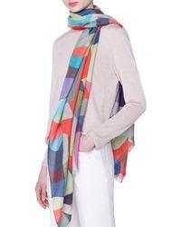 Akris - Printed Cashmere-silk Scarf - Lyst