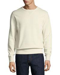 Ralph Lauren - Solid Knit Cotton Sweatshirt - Lyst