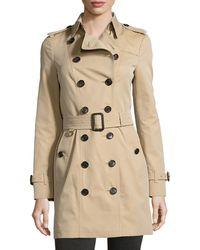 Burberry - Sandringham Mid-length Woven Trenchcoat - Lyst