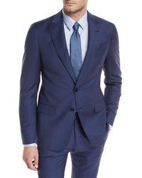 Giorgio Armani - Tonal Grid Wool Two-piece Suit - Lyst