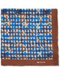 Kiton - Irregular Spots Silk Pocket Square - Lyst