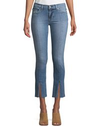 Hudson Jeans - Nico M.r Straight-leg Ankle Jeans W/ Front Slit - Lyst