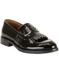 Givenchy Men's Cruz Logo-embellished Kiltie Loafers - Black