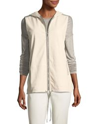 Lafayette 148 New York - Francisco Vest W/weathered Leather & Nylon Combo - Lyst