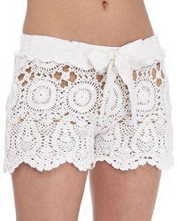 Letarte - Crochet Tie-waist Shorts - Lyst