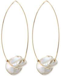 Mizuki - 14k Gold Freshwater Pearl Earrings - Lyst