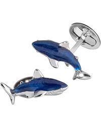 Jan Leslie - Enamel Shark Cuff Links - Lyst