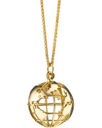 Monica Rich Kosann - 18k Gold My Earth Necklace - Lyst