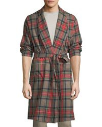 Fear Of God Open-front Plaid Wool Robe - Brown