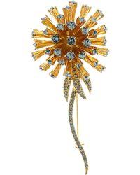 Oscar de la Renta - Crystal Dandelion Brooch - Lyst
