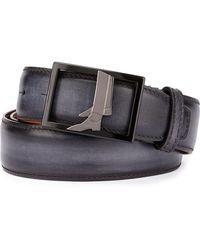 Berluti - Venezia Leather Boot-buckle Belt - Lyst