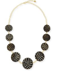 Nest - Spotted Horn Disc Necklace - Lyst