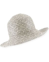 Armani Structured Sun Hat - Natural