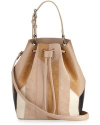 10 Crosby Derek Lam - Prince Patchwork Leather Bucket Bag - Lyst