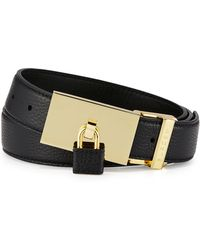 Buscemi - Padlock-buckle Leather Belt - Lyst